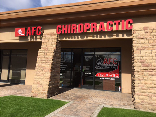 entrance to Mesa chiropractor building
