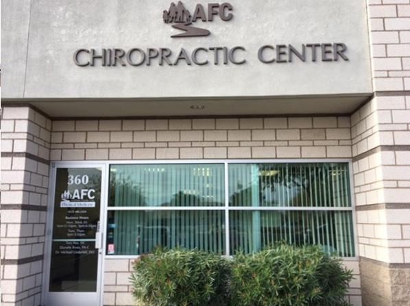 Peoria chiropractor main entrance