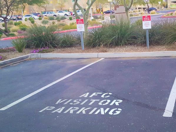 parking spaces for chiropractor in Desert Ridge