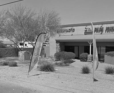 San Tan chiropractic office from parking lot